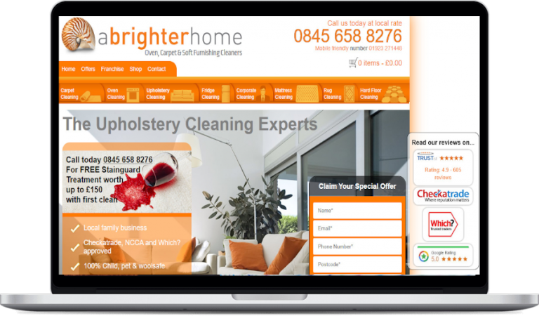 a brighter home web design project