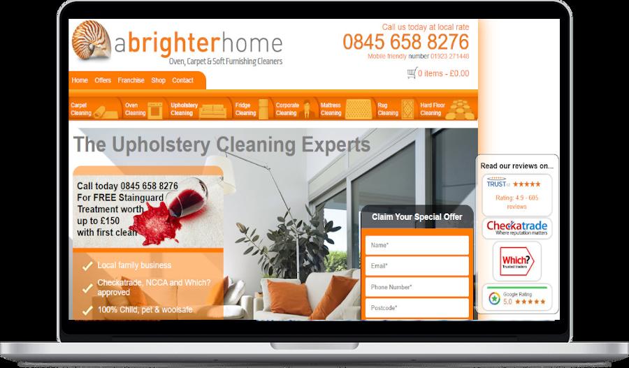 a brighter home web design project