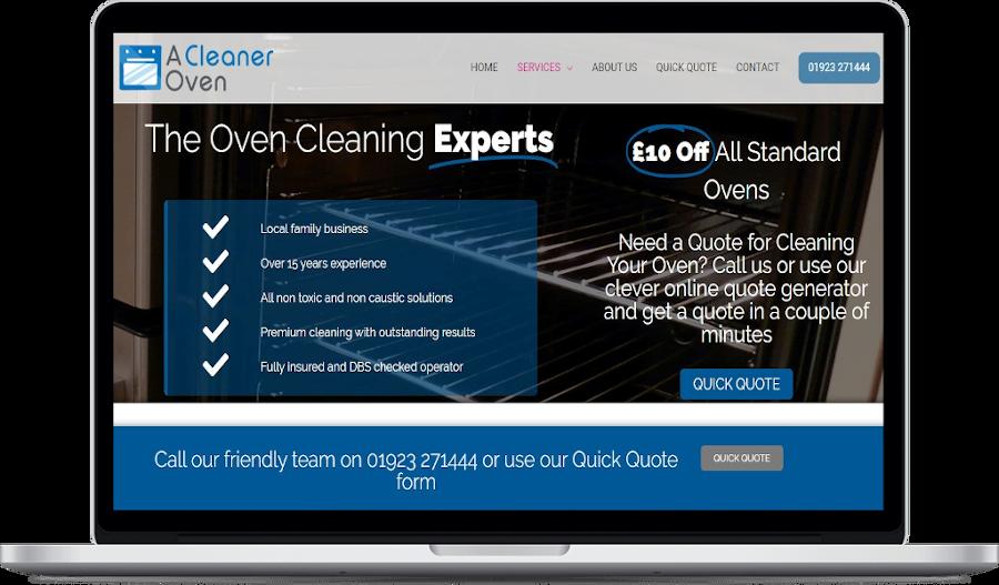 A cleaner oven website design