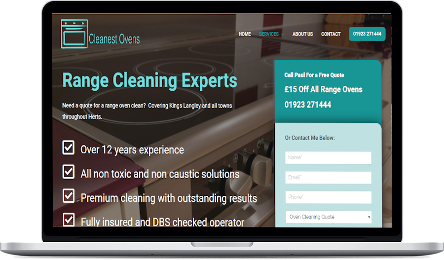 oven cleaning website