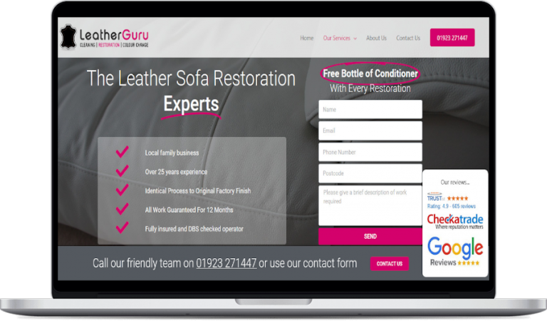 leatherguru website design project