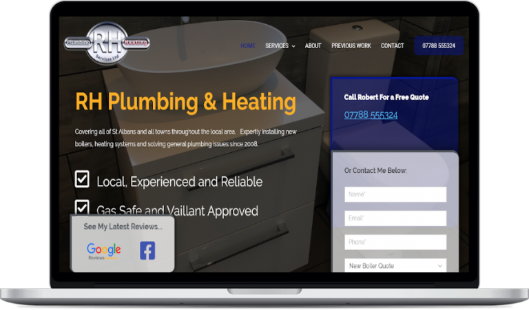 rh plumbing website design