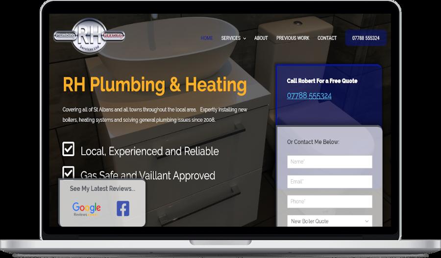 rh plumbing website design